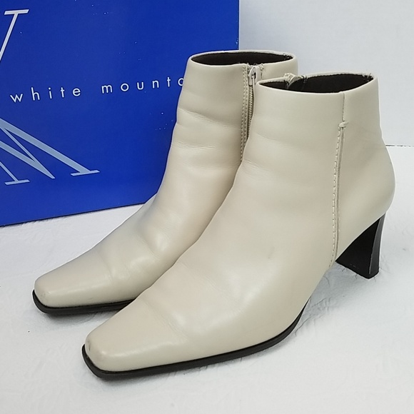 dc6d1f481ab White Mountain Camino Winter White Leather Booties